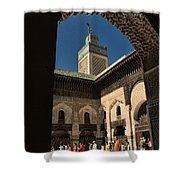 Zaouia El Tijaniya Mosque In Fes Morroco Shower Curtain