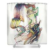 Zappa Baton Shower Curtain
