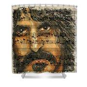 Zappa The Walz  Shower Curtain