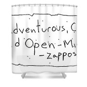 Zappos Core Value Shower Curtain