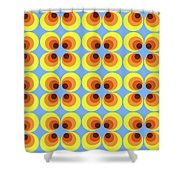 Zappwaits Retro 7 Shower Curtain