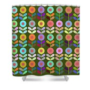 Zappwaits Flower Shower Curtain