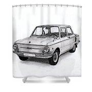 Zaz-966 Zaporozhets Shower Curtain