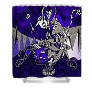 Zazen Jazz Shower Curtain