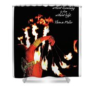 Zeal Quote Shower Curtain