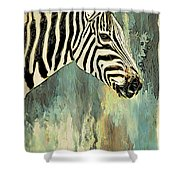 Zebra Abstracts Too Shower Curtain