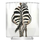 Zebra Back Shower Curtain