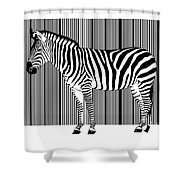 Zebra Barcode Shower Curtain