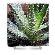 Zebra Cactus  Shower Curtain