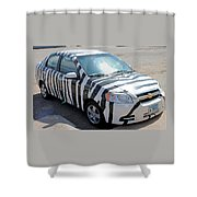 Zebra Car Front Shower Curtain