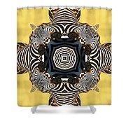 Zebra Cross Shower Curtain
