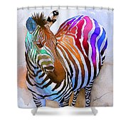 Zebra Dreams Shower Curtain