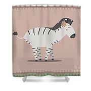 Zebra Posing Shower Curtain