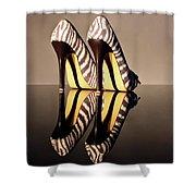 Zebra Print Stiletto Shower Curtain
