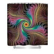 Zebra Spiral Affect Shower Curtain