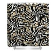 Zebra Vii Shower Curtain