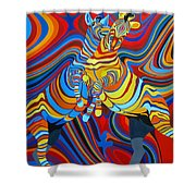 Zebradelic Shower Curtain