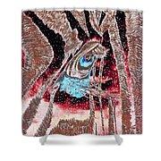 Zebras Eye - Abstract Art Shower Curtain