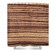 Zebrawood - Natural Abstract Shower Curtain