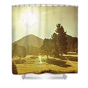 Zeehan Golf Course Shower Curtain