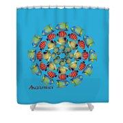 Zeerkl Of Angelfish Shower Curtain