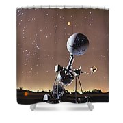 Zeiss Planetarium Projector Shower Curtain