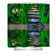 Zen Art And Reflections By Kaye Menner Shower Curtain