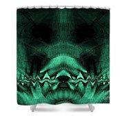 Zen Chaos / Teal  Shower Curtain