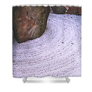 Zen Circle  Shower Curtain