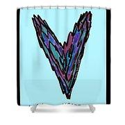 Zen Hearts In Betweens Shower Curtain