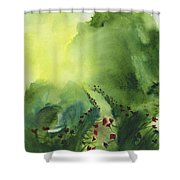 Zen Mountain Shower Curtain