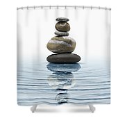 Zen Stones In Water Shower Curtain