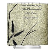 Zen Sumi 4o Antique Motivational Flower Ink On Watercolor Paper By Ricardos Shower Curtain by Ricardos Creations