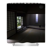 Zen Tea Room Of Koto-in Temple -- Kyoto Japan Shower Curtain
