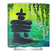 Zen Time Shower Curtain