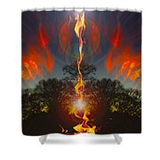 Zenith Coming Shower Curtain