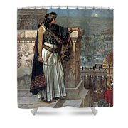 Zenobia's Last Look On Palmyra Shower Curtain by Herbert Gustave Schmalz
