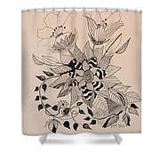 Zentangle 16-02 Shower Curtain