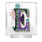 Zentangle Inspired E #4 Shower Curtain