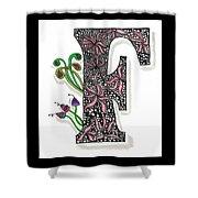 Zentangle Inspired F #1 Shower Curtain