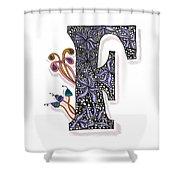 Zentangle Inspired F #2 Shower Curtain