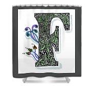 Zentangle Inspired F #3 Shower Curtain