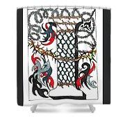 Zentangle Inspired I #1 Shower Curtain