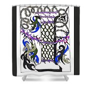 Zentangle Inspired I #2 Shower Curtain