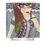Zentangle Queen  Shower Curtain