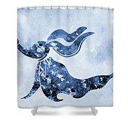 Zero-blue Shower Curtain
