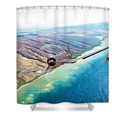 Zero Hour For Pappy Shower Curtain