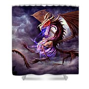 Zerolios - Bone Lighting Dragon Shower Curtain