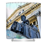Zeus  Shower Curtain by Paul Ward