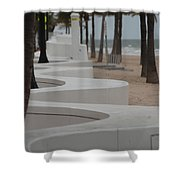 Zig Zag At The Beach Shower Curtain